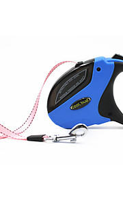 Köpekler Tasma Kayışı Ayarlanabilir/İçeri Çekilebilir Otomatik Video Sistemi Geometrik Yenilik Mavi Pembe TuruncuNaylon Silikon Paslanmaz