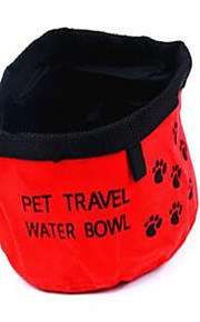 Chien Mangeoires Animaux de Compagnie Bols & alimentation Portable Pliable Rouge Polyester