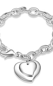Armbånd Kæde & Lænkearmbånd Plastik Sølvbelagt Hjerteformet Mode Boheme Stil Punk Stil Personaliseret Daglig Afslappet Julegaver Smykker