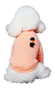 Dog Clothes/Jumpsuit Pink Dog Clothes Winter Spring/Fall Solid Cute Casual/Daily
