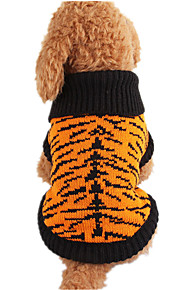 Dog Sweater Black Dog Clothes Winter Spring/Fall Stripe Casual/Daily