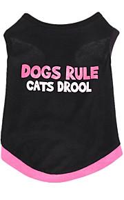Hundar Väst Svart Hundkläder Sommar Britisk Gulligt Ledigt/vardag