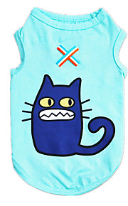 Dog Shirt / T-Shirt Vest Blue Dog Clothes Winter Spring/Fall Cartoon Casual/Daily