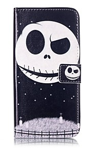 For Apple iPhone7 iPhone7 Plus iphone6s iphone6s Plus iphone6 iphone6 Plus The Ghost Pattern PU Leather Case for iphone SE 5s 5c 5