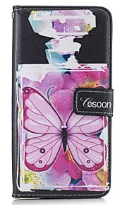 Per Porta-carte di credito A portafoglio Con supporto Con chiusura magnetica Custodia Integrale Custodia Farfalla Resistente Similpelle
