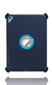 For Vand / Dirt / Shock Proof Med stativ Etui Bagcover Etui Helfarve Hårdt PC for Apple iPad Pro 9.7 ''