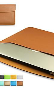 for MacBook Air / pro 11.6 '' 13.3 15.4 '' enkel fritid stil bærbare bag solid farge pu laptop sleeves universell