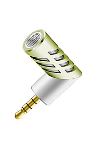 NO Com Fios Microfone de Karaoke 3.5mm Verde