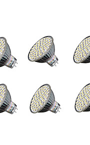 5.5W GU5.3 LED 스팟 조명 MR16 60 SMD 3528 240 lm 따뜻한 화이트 차가운 화이트 V 6개