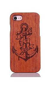 För Stötsäker Läderplastik Mönster fodral Skal fodral Ankare Hårt Trä för AppleiPhone 7 Plus iPhone 7 iPhone 6s Plus/6 Plus iPhone 6s/6