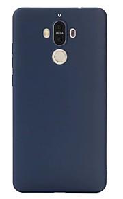 Voor Ultradun hoesje Achterkantje hoesje Effen kleur Zacht TPU voor Huawei Huawei P9 Huawei P9 Plus Huawei Mate 9 Huawei Mate 9 Pro