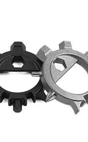 12 In1 Multi-Function Stainless Steel EDC Tool Screwdriver Key Ring Bottle Opener Bike Bicycle Repair Tool 1PC