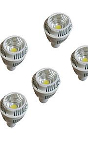 5pcs 7W GU10 ledet 220-240 varm hvite dimmablesp lys cup dimming tak