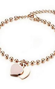 Bracelet Chain Bracelet Alloy Heart Fashion Gift Jewelry Gift Gold,1pc