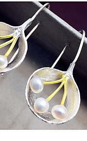 Ikke-sten Dråbeøreringe Smykker Dame Daglig Afslappet Perle 1 par Sølv