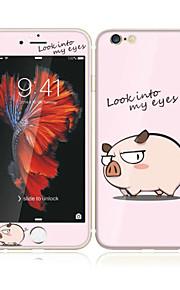 für apple iphone 6s / 6 4.7 aus gehärtetem Glas mit weichem Rand Vollbildabdeckung Frontdisplayschutzfolie und Rückenprotektor