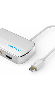vention® Minidp 2 in 1 Displayport-auf-VGA-Adapter-Konverter-Kabel für Apple MacBook Air Pro imac mac hdtv Projektor hdmi