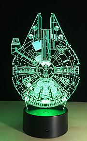 3D novo navio de guerra de naves espaciais presentes dos miúdos amigos quarto lâmpada de mesa de luz noite bulbificação filho varão da