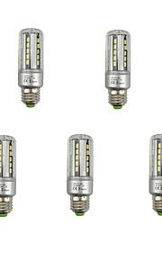 7W E26/E27 LED-kornpærer T 36 SMD 5736 840 lm Varm hvit Kjølig hvit Dekorativ V 5 stk.