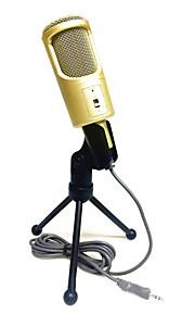 no Com Fios Microfone de Karaoke 3.5mm Preto Dourado