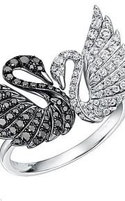 Ringe Dyreformet Mode Personaliseret Daglig Afslappet Smykker Sølv Ring 1 Stk.,En størrelse Som På Billede