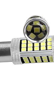 ziqiao 2stk P21W 1156 BA15s 66 SMD 7506 super lysstyrke bremse parkering revers lyser tåkelys blinklys pære DC12V