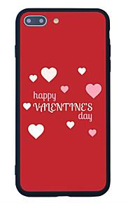 För Mönster fodral Skal fodral Hjärta Hårt Akrylfiber för Apple iPhone 7 Plus iPhone 7 iPhone 6s Plus/6 Plus iPhone 6s/6 iPhone SE/5s/5
