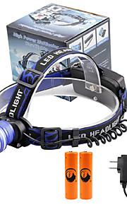 Lanternas de Cabeça LED 2000 Lumens 3 Modo Cree XM-L T6 18650.0 Foco Ajustável Tamanho CompactoCampismo / Escursão / Espeleologismo Uso
