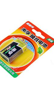 Nanfu 9V alkaliskt batteri / fjärrkontroll leksaker / röklarm / trådlös mikrofon / multimeter / fjärrkontroll / mikrofon batteri ett pack