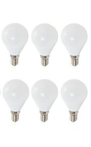 7W E14 E26/E27 LED-globepærer G45 6 SMD 2835 680 lm Varm hvit Kjølig hvit Dekorativ AC 220-240 V 10 stk.