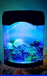 Mini Aquariums Background Artificial Plastic Colorful Light USB/AA Battery