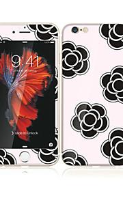 アップルのiPhoneのための6S / 6ソフトエッジフルスクリーン・カバレッジ・フロントスクリーンプロテクターとバックプロテクターの花柄の4.7強化ガラス