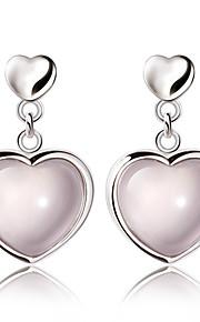 Krystal Hjerteformet Dråbeøreringe Smykker Mode Bryllup Fest Daglig Afslappet Krystal Plastik 1 par Pink