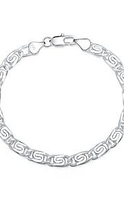 Armbånd Kæde & Lænkearmbånd Sølvbelagt Geometrisk form Mode Smykker Gave Sølv,1 Stk.
