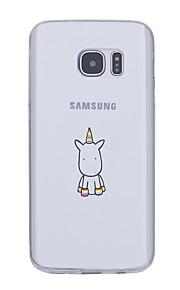 용 울트라 씬 패턴 케이스 뒷면 커버 케이스 유니콘 소프트 TPU 용 Samsung S7 edge S7 S6 edge plus S6 edge S6 S5