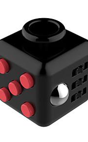 Brinquedos Cubo Macio de Velocidade Cube Fidget Novidades Alivia Estresse Cubos Mágicos Vermelho Preta / Plástico