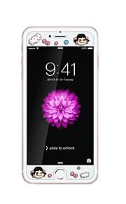 voor Apple iPhone 6 / 6s 4.7inch gehard glas transparante voorkant screen protector met reliëf cartoon patroon glow in the dark meisje