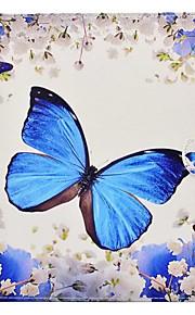 Pour Avec Support Motif Coque Coque Intégrale Coque Papillon Dur Cuir PU pour Apple iPad 4/3/2