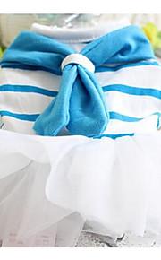 Perros Vestidos Azul Rosado Ropa para Perro Primavera/Otoño Un Color Adorable vaquero Casual/Diario