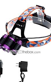 Lanternas de Cabeça LED Lumens 3 Modo Cree XM-L T6 18650.0 Foco AjustávelCampismo / Escursão / Espeleologismo Uso Diário Ciclismo Caça