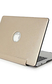 4 Colors PU Leather Laptop Hard Case For Macbook For Retina 13.3 15.4 Shell Protector Cover Screen Film