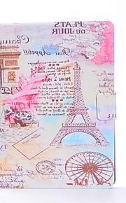 Pro Pouzdro na karty Automatické probouzení Vytlačený vzor Carcasă Oboustranný Carcasă Eiffelova věž Pevné PU kůže pro AppleiPad Pro