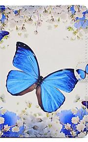Pour Avec Support Motif Coque Coque Intégrale Coque Papillon Dur Cuir PU pour Apple iPad Mini 4 iPad Mini 3/2/1
