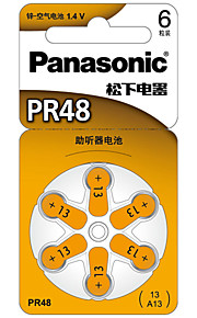 Panasonic PR-48CH Button Cell Lithium Battery 3V 6 Pack