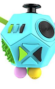 Brinquedos Cubo Macio de Velocidade Cube Fidget Novidades Alivia Estresse Cubos Mágicos Arco-Íris Azul Plástico