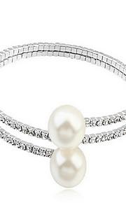 Armbånd Kæde & Lænkearmbånd Perle Cirkelformet Natur Smykker Gave Hvid,1 Stk.