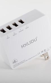 Caricabatterie portatile Per iPad Per cellulare Per tablet Per iPhone 4 porte USB Presa US