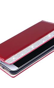 Pour Portefeuille Porte Carte Strass Coque Coque Intégrale Coque Couleur Pleine Dur Cuir PU pour AppleiPhone 7 Plus iPhone 7 iPhone 6s