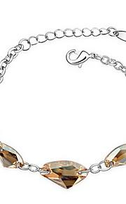 Dame Kæde & Lænkearmbånd Smykker Venskab Mode Krystal Legering Geometrisk form Guld Blå Smykker For Fest Fødselsdag 1 Stk.