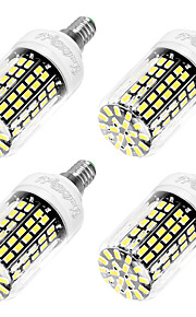 6W E14 LED-maïslampen T 108 SMD 5733 550 lm Koel wit AC 220-240 V 4 stuks